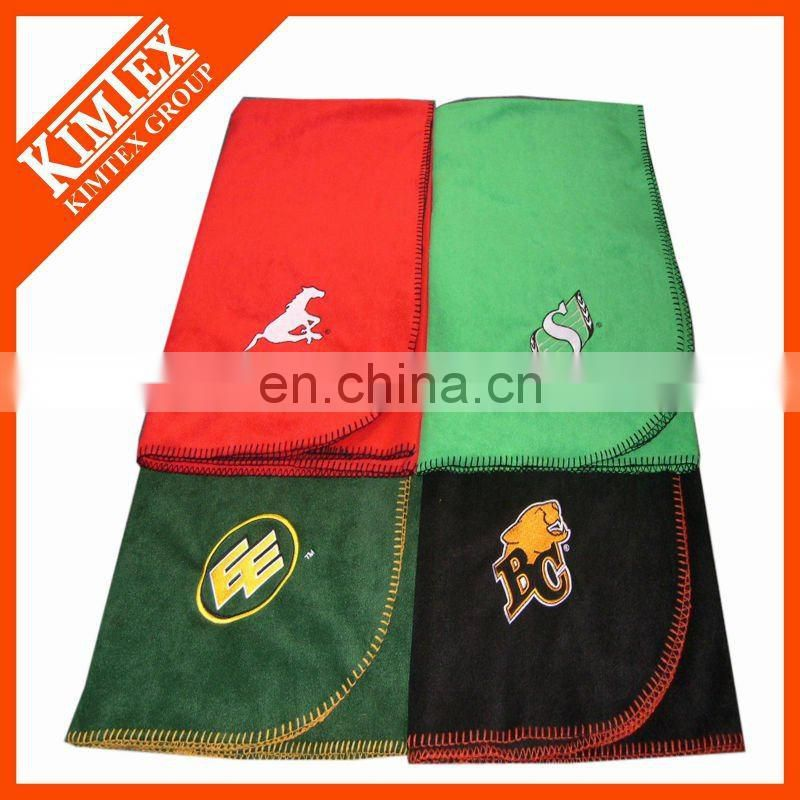 Warmer polar fleece printed travel blanket