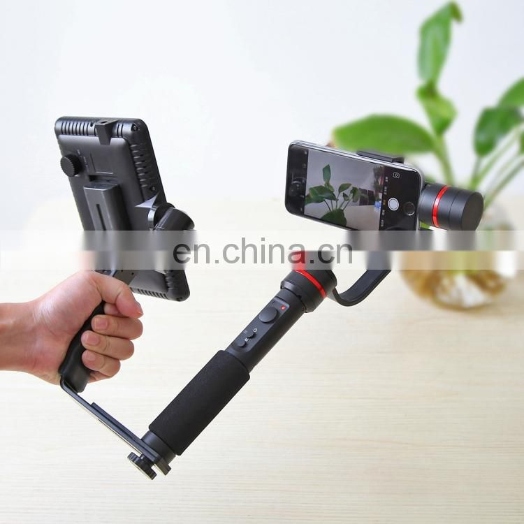 Free sample PULUZ 3-Axis Handheld Gimbal Steadicam Stabilizer Clamp Mount + L-Shape Bracket + Studio Light with Tripod Holder