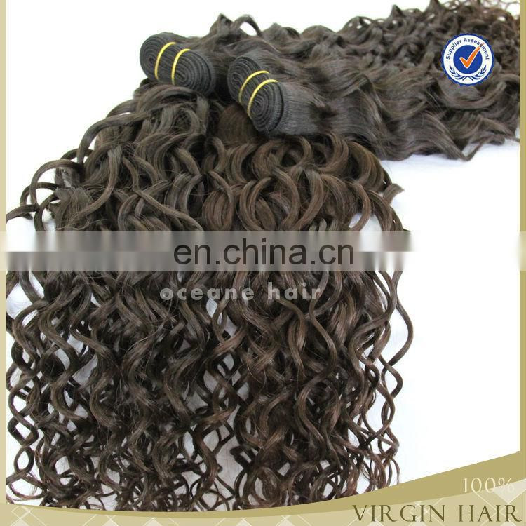 Super quality hot selling free shedding raw unprocessed cambodian loose curly hair wefts