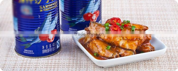 155g factory price Canned Sardine in vegetable oil/Best selling popular Canned Sardines in vegetable oil/canned food