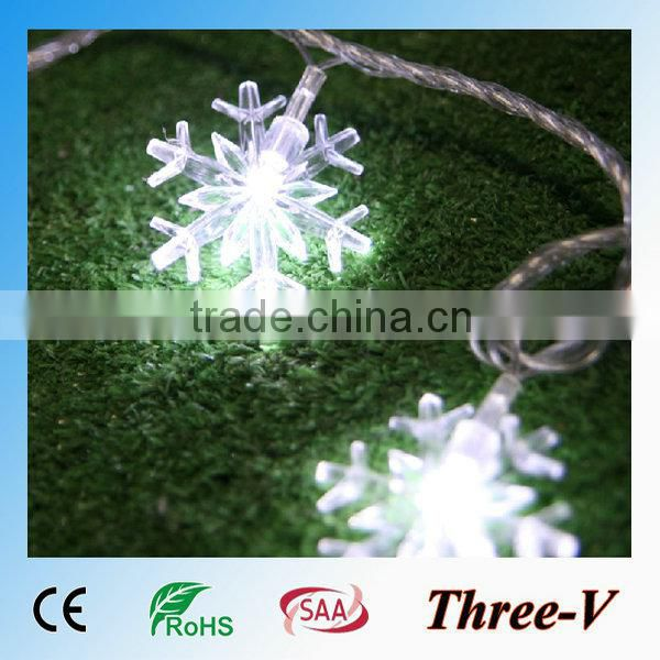 Snowflakes string LED Xmas lights holiday party hotel home