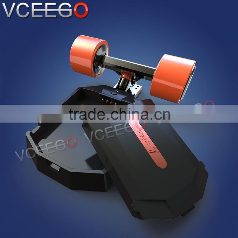 Landwheel factory manufacture skateboard deck blank with swappable battery can desgin your mileage