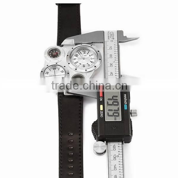 High quality pu leather band luxury men's wrist watch compass