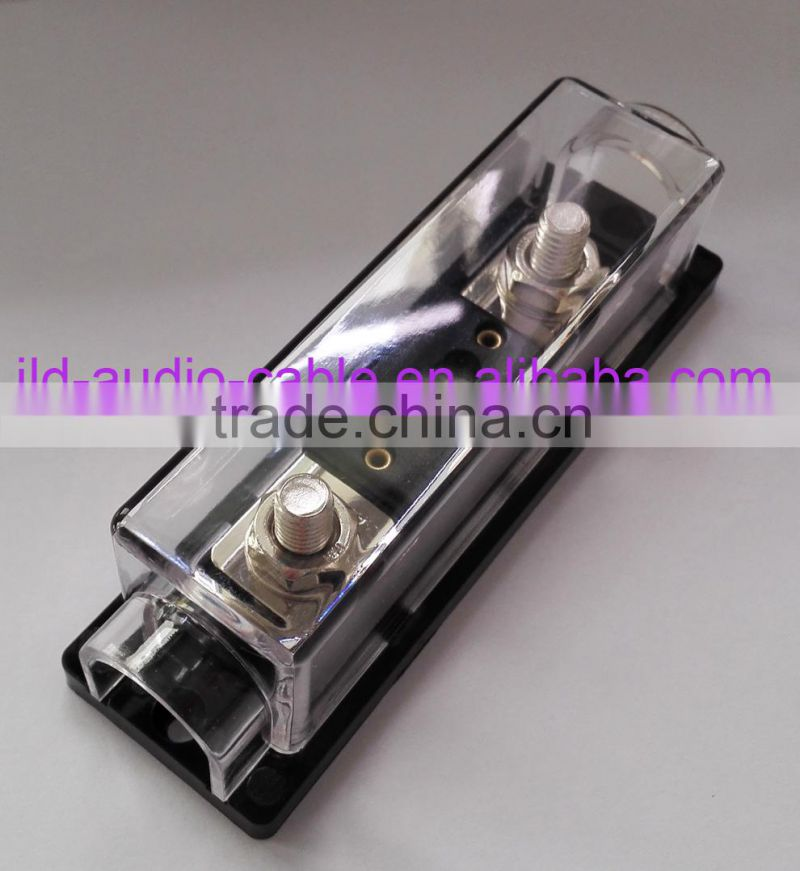 Low Voltage Digital Car Audio dull nickel plated ANL Fuse Holder /250 A ANL fuse,nickel plated ANL Fuse holder