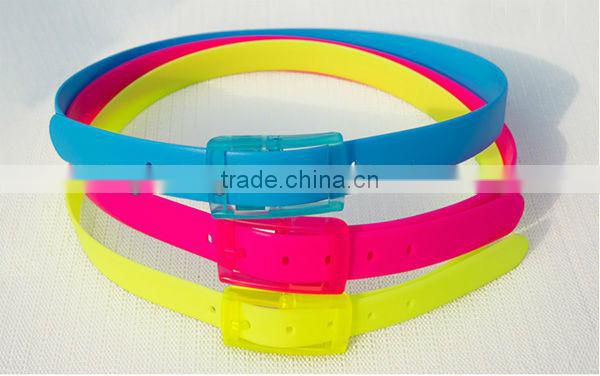 Many colors silicone belt