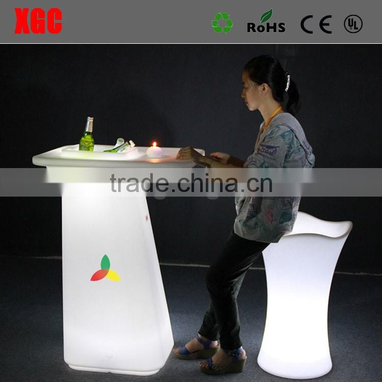 Bar club portable cocktail tables led light up cocktail table GF323