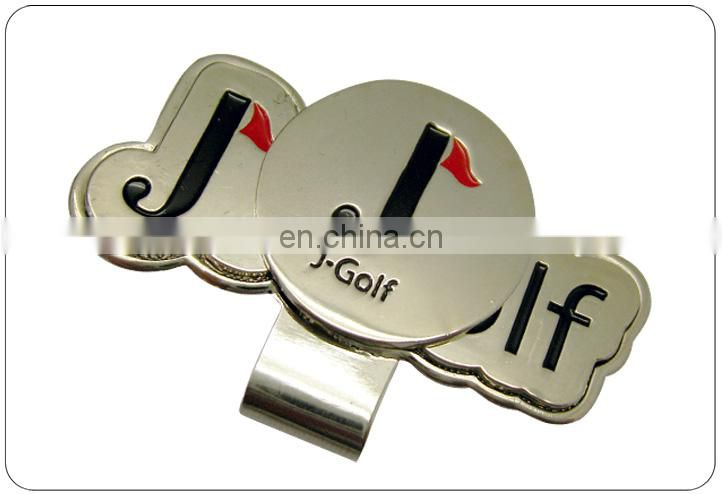 metal golf hat clip,ball marker