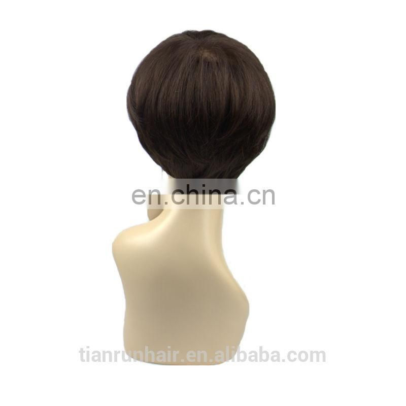 Good feedback new fashion silk top full lace wigs with bangs for black women