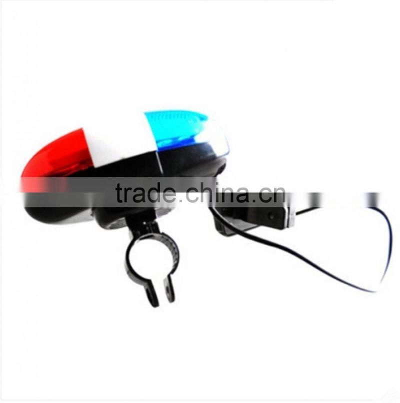 2016 New Cycling Bike Super loud Bicycle 6 LED Electronic Horn Bell Siren 4 Sounds electric horn sound pressure horn sound