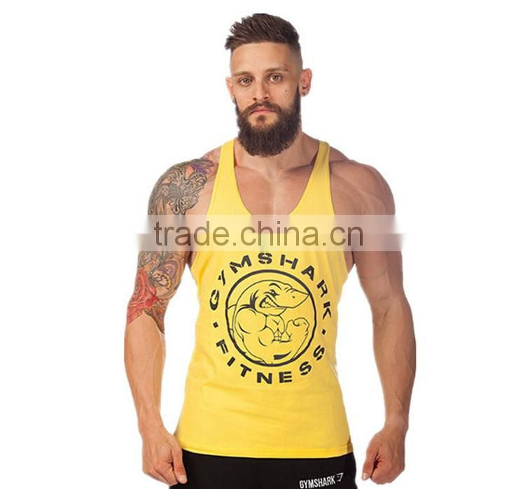 2016 cotton fitness clothes Gym bodybuilding tank top men Sleeveless sport tops Casual golds gym vest brand tracksuits men
