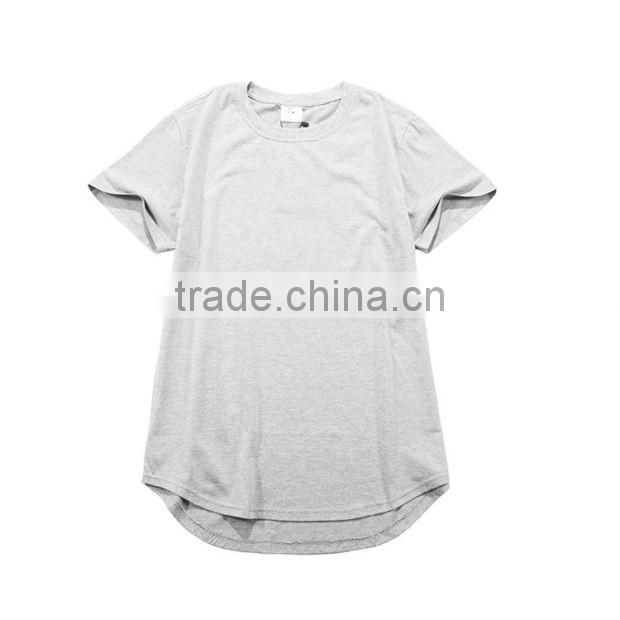 China factory tall t-shirts wholesale HipHop Elongated Style long li ne t-shirt