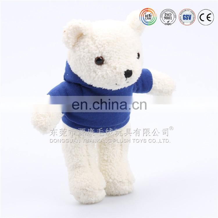 YK ICTI ODM creative handmade PLUSH BEAR with lovely clothes