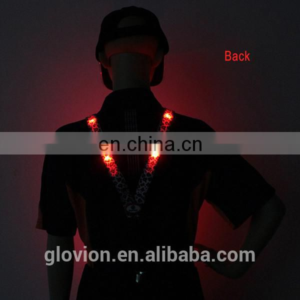 New arrival fashion suspenders for boy fashion design suspenders LED suspenders