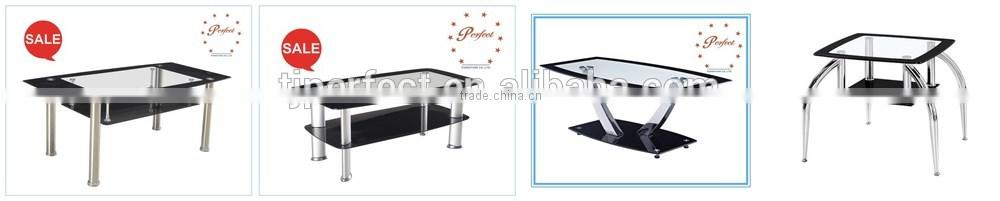 Modern aluminum leg, tempered glass top coffee table for living room PCT14125
