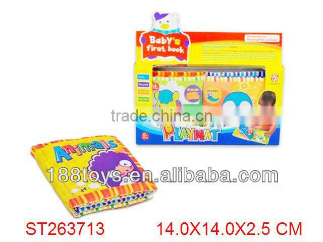 Learning & educational infant fabric soft cloth book for baby