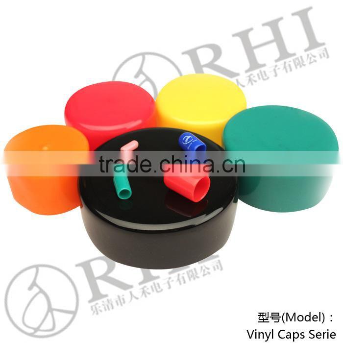 Free sample flexible pvc end caps round plastic caps 20mm of
