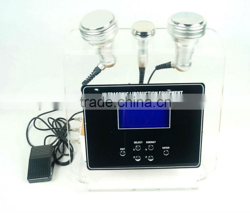 Portable type ultrasonic liposuction slimming photon ultrasonic beauty salon machine AU-826