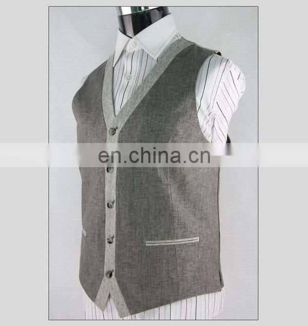 stylish men's fashion design outwear white vest