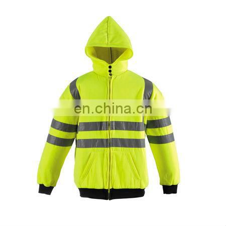 Hi--Vis Hooded Sweathirt