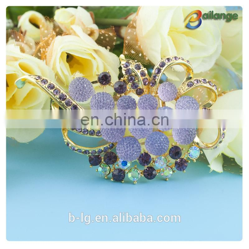 2015 Bailange flower shape design brooch pin brooch for wedding in bulk