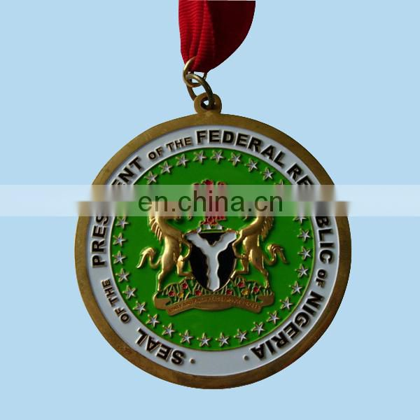 custom judo medal with gold silver
