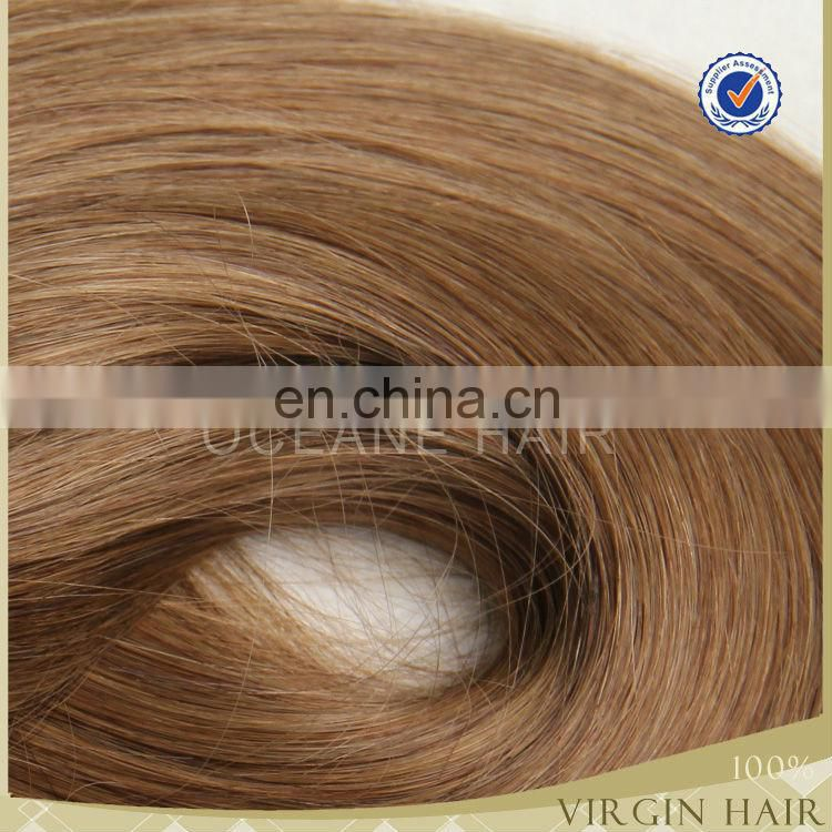 Hotsale virgin straight remy blonde color brazilian hair bulk 30 inch