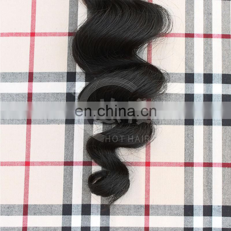 grade 6A virgin human loose wave hair extensions dyeable human virgin remy hair extension