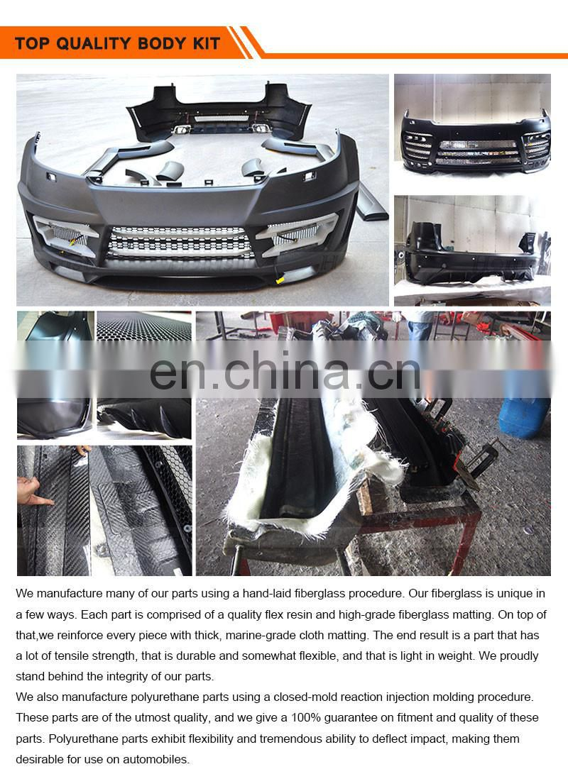 auto Body Kits body parts auto TURBO design FRP PUR body kit for porsce cayene 2011 2012 2013 2014 958