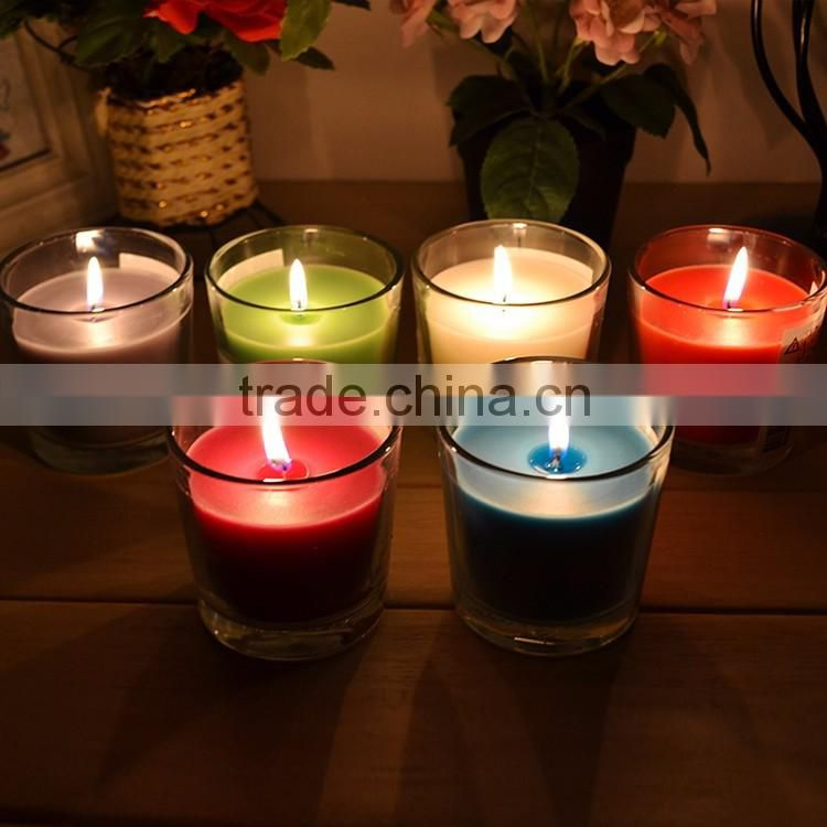 100% natural soybean wax fragrance oil candle/ aroma candle