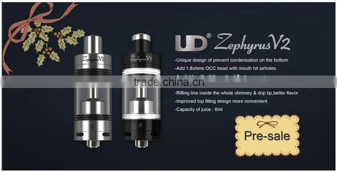 Preorder now!!best price&fast shipping Rifilling Line Inside The Whole Chimney&Drip Tip UD Zephyrus Tank V2 vs youde Zephyrus