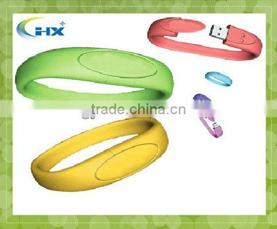 fashionable silicone bracelet USB flash drive with your logo