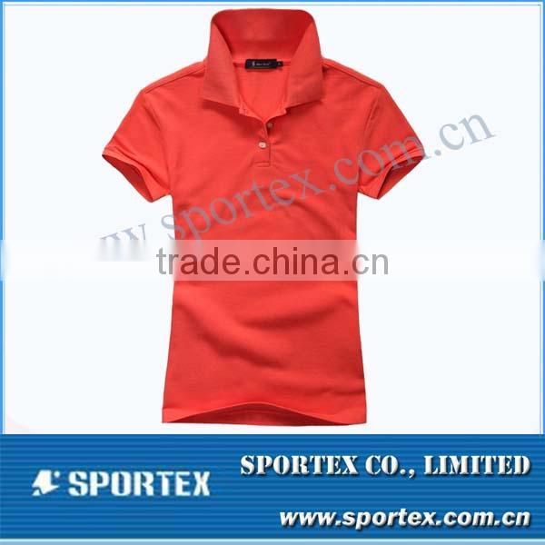 100% cotton women's Polo shirt / Golf shirt for ladies