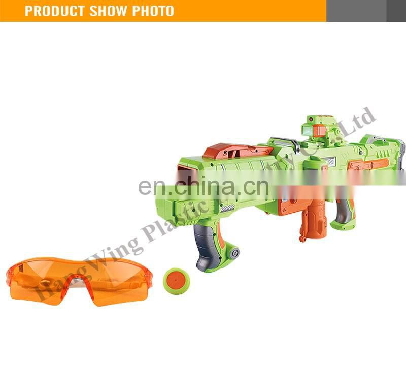 New Design Kids Toy Gun Plastic Frisbee Bullets Battery Included