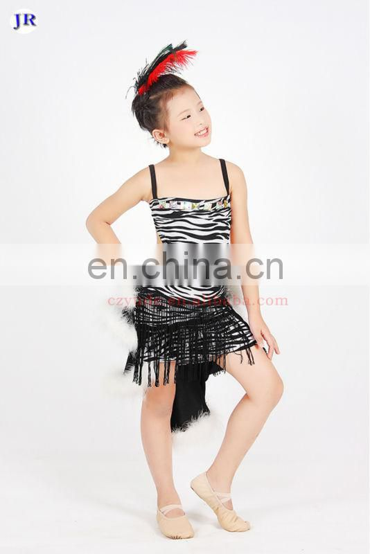 Performance sexy tassel children girls ballet tutu skirt with fluff tail ET-014#