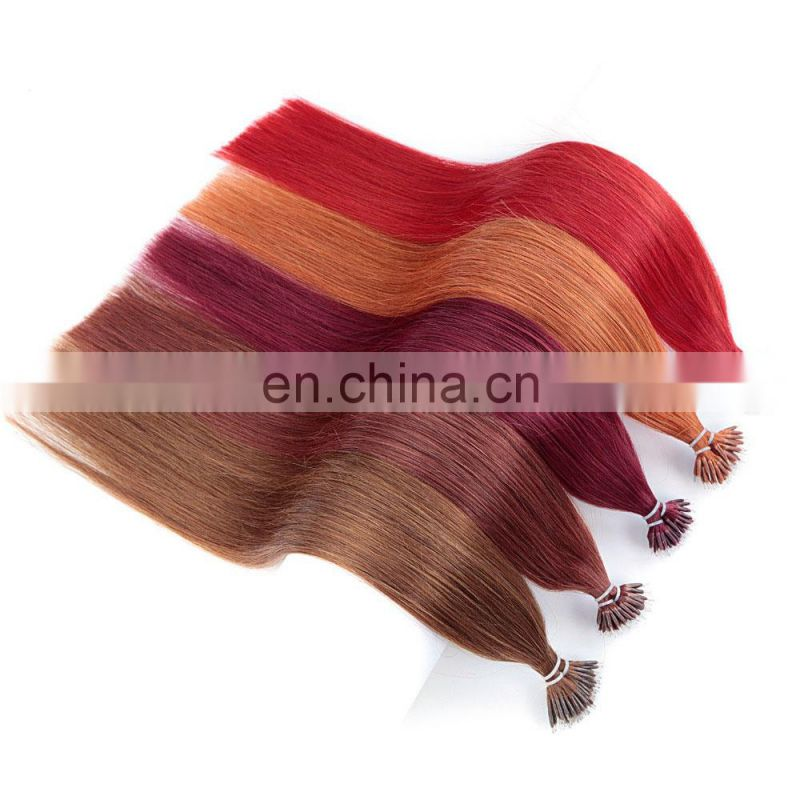 Bundle Weft Brazilian Peruvian Indian Remy Virgin human nano hair extensions