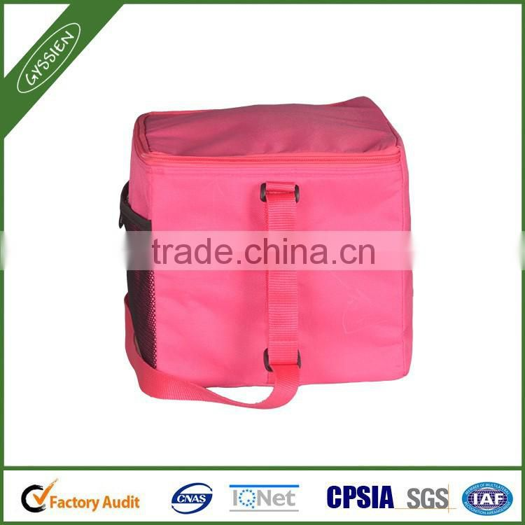 Stock wholesale pinke/custom reusable mesh insulated trolley picnic cooler bag with wheels,trolley picnic cooler bag with wheels
