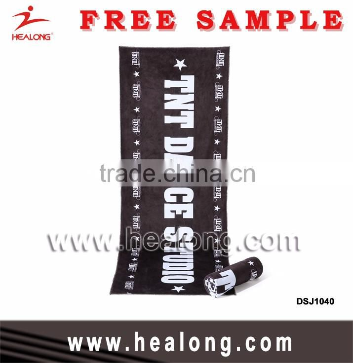 Healong Factory Sublimation Digital Print Microfiber Custom Personalized Design Yoga Gym Sports Towel