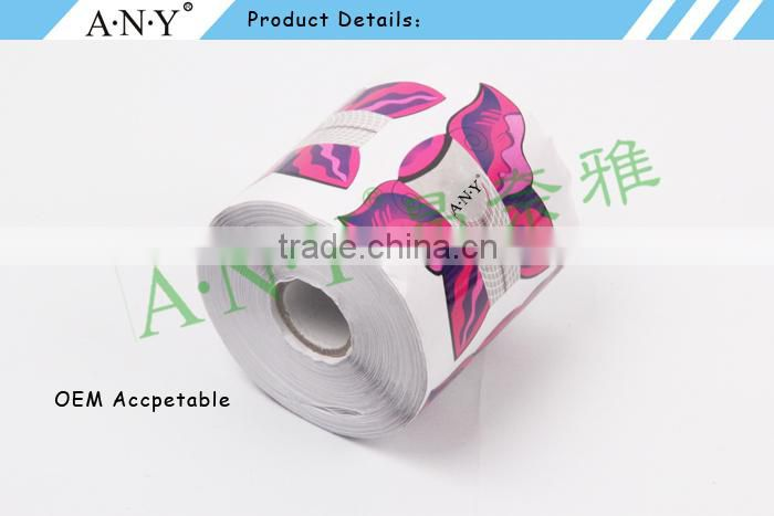 ANY Nail Art Beauty Acrylic UV Gel Extension Nails Using 500PCS per Roll Paper Nail Form Burtterfly for Nail Art