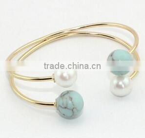Unique Ethnic Gemstone bracelet Semi Precious Turquoise Bangle