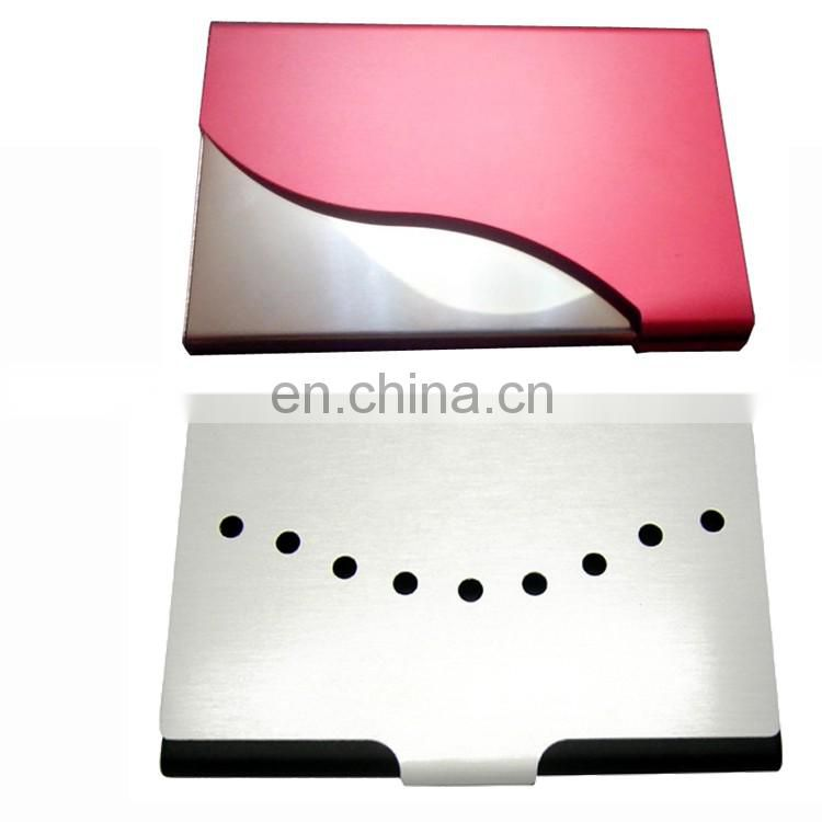 Metal graphic card holder stone pp card holder
