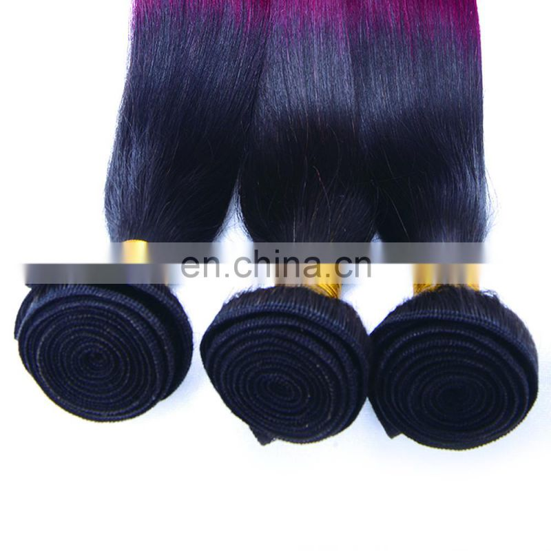 Sew In Human Hair Extensions, T1B/99J silky straight human hair extension, Peruvian Hair 100% Human Virgin Hair