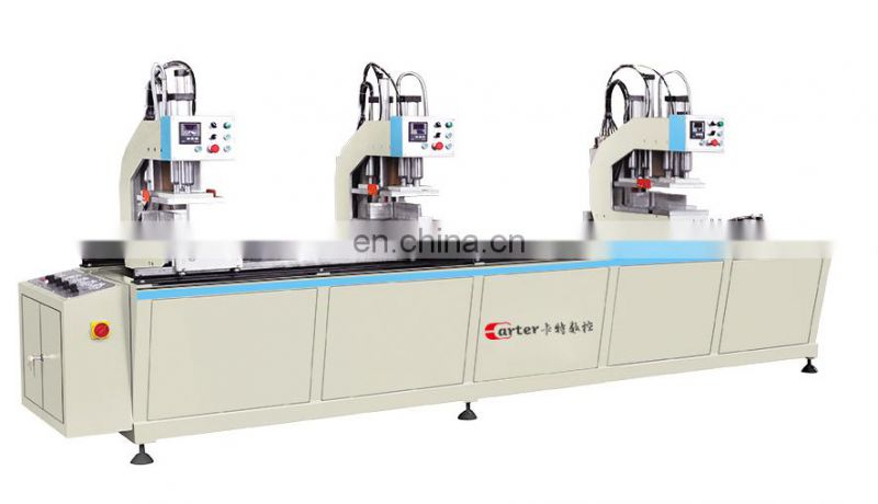 Shandong Carter window door equipment manufacturer upvc profile welding window plastic mullion welding machine
