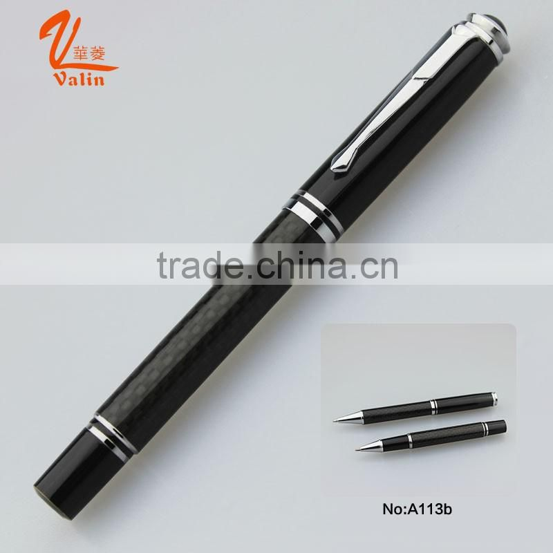Black metal ball pen for promotional fancy stationary