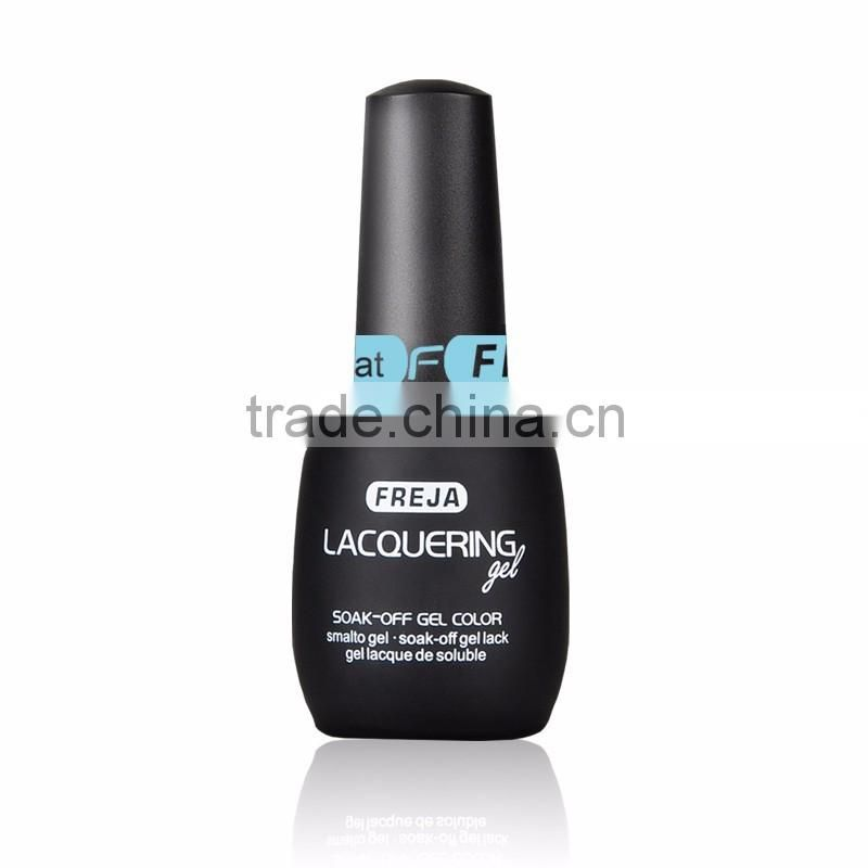 China cosmetic factory FREJA 120 colors gel polish, nail polish essier soak off,uv brushes gel laquer with brushes