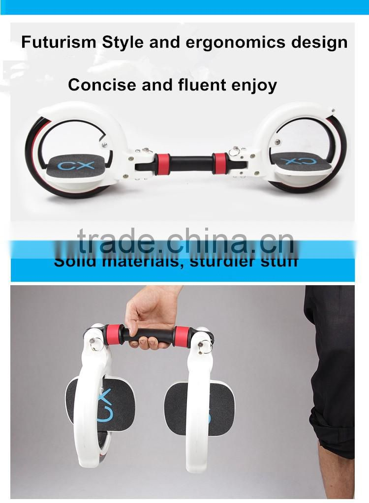 2016 new design skatecycle,2 wheel scooter two wheels self balancing scooter most popular skateboard