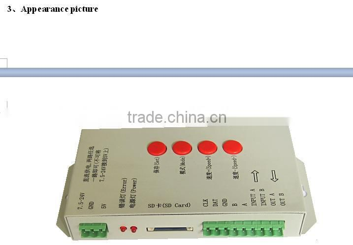T1000s SD Card led matrix dmx controller