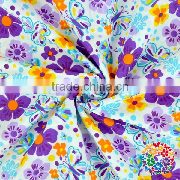 Wholesale Newest 100% Cotton Fabric Printed Star Cotton Fabric Cotton Jersey Flower Fabric