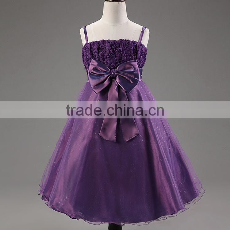 MGOO Imported Elegant Purple Girl Dress Teenagers Girl Dress Rose ...