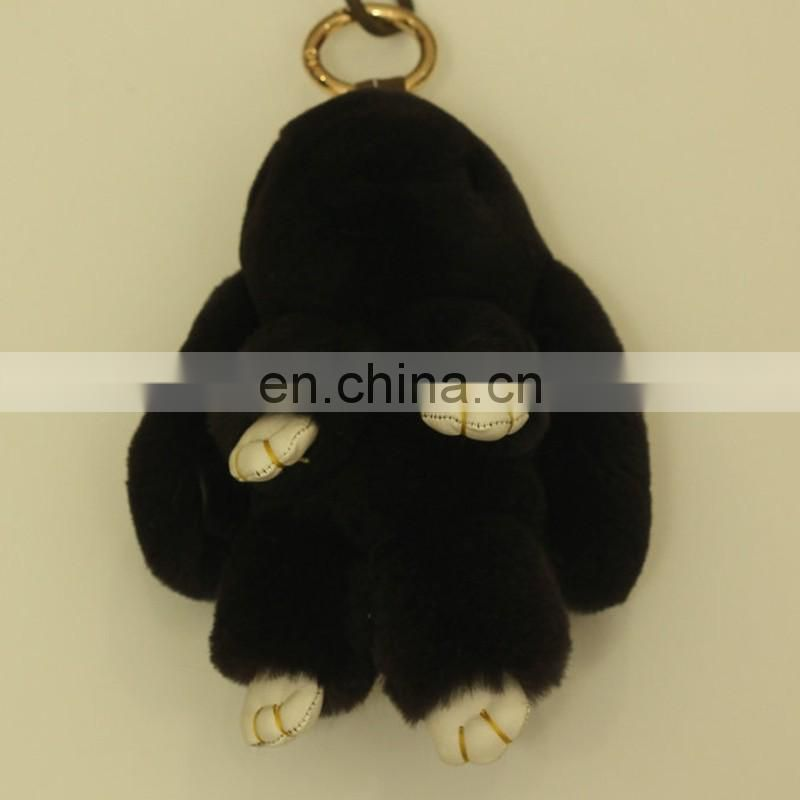 Top grade Copenhagen rabbit big lovely real rabbit fur bunny bag charm