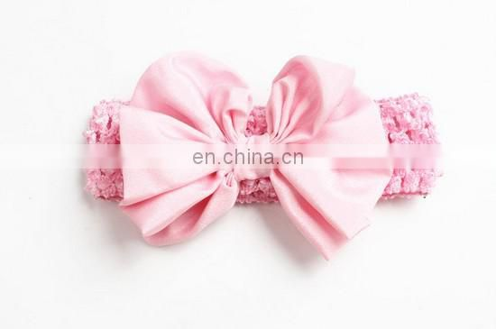 Big Messy Bow Hair Wrap Wide Headband Hairbow For Baby Girl Top Knot Baby Headband For Birthday